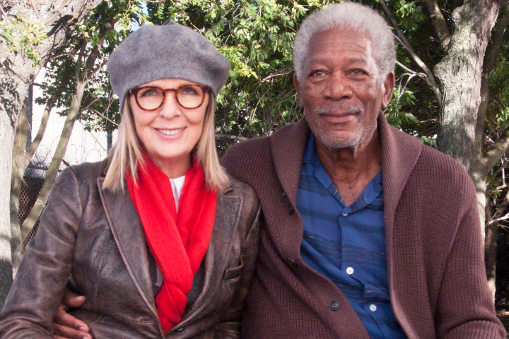 5 FLIGHTS UP - 2015 FILM STILL - Diane Keaton is RUTH and Morgan Freeman is ALEX CARVER - Photo Credit: Focus Films  ©2014 Life Itself, LLC. All Rights Reserved.